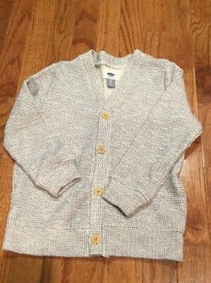 Old Navy Boys Cream And Black Cardigan Button Down Sweater Size 5t