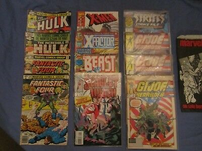 Vintage Lot of 12 Comic Books  Marvel Group  Mixed Lot  70's 80's 90's