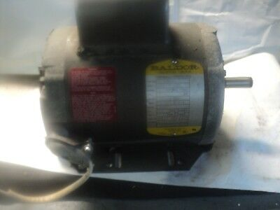 "Baldor  1 HP 115/208/230 3450 RPM 5/8"" SHAFT SINGLE PHASE MOTOR USED"