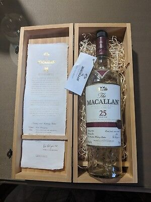 The Macallan 25 year Scotch Whiskey *Box & Empty Bottle* Collectible