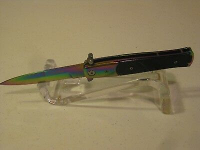 "Tac-Force Rainbow Spring Assisted 7"" Open Folding Pocket Knife #TF-428RB"