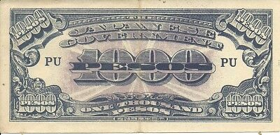PHILLIPPINES: 1000 Pesos. (1944).P-115 ,  Japanese Occupation Note, WWII
