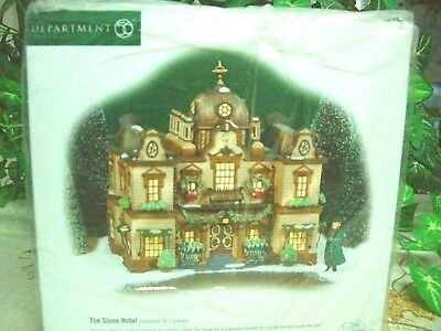 """Dept 56 Dickens Village """"The Slone Hotel"""" Set of 2  #58494  New still in Sealed"""