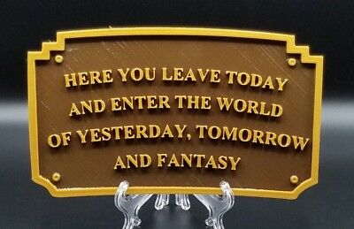 Magic Kingdom Disneyland Entranceway Plaque Inspired Sign - Dual Color