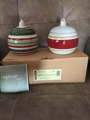 LONGABERGER Ornament Candle Holders~SET/2~NEW