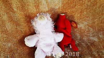 2 PC SET Pink Pig Ganz w TY Beanie Baby Red, Bull - Retired