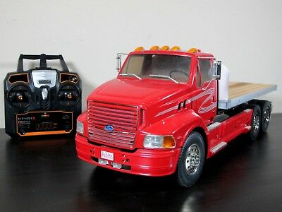 Custom Built Tamiya 1/14 Ford Aeromax Single Cab Semi Flatbed Truck ESC 2.4GHz