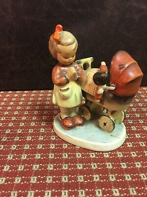 hummel goebel figurine germany mother praying with baby in carriage stroller 67