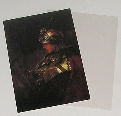 Rembrandt Portraits - Man In Armour 1655 - Glossy Postcard & Envelope