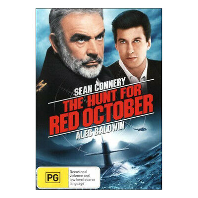 The Hunt for Red October DVD Brand New Aust. Region 4 Sean Connery, Alec Baldwin