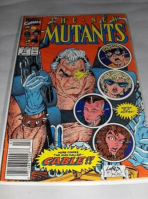 The New Mutants 87 (Mar 1990) 1st Appearance of Cable - High Grade!
