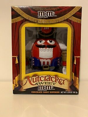 New! M & M M&M Nutcracker Sweet Red Dispenser Limited Edition Collectible