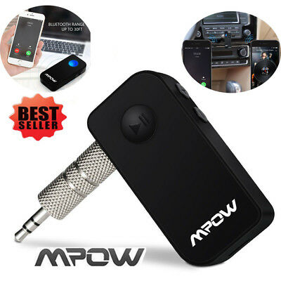 MPOW 3.5mm Wireless Bluetooth Car Receiver AUX Audio Music Adapter Mic 2.4GHz