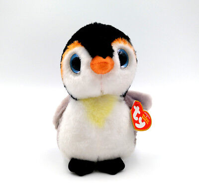 """6"""" TY Beanie Babies Girl Gift Pongo the Penguin Glitter Eyes With Tag Plush Toys"""