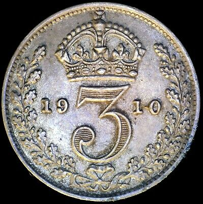 Great Britain 1910, 3 Pence KM# 797.2 {Silver}