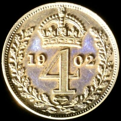 Great Britain 1902, 4 Pence KM# 798 {Silver}