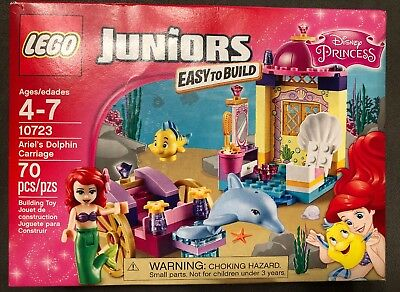 Lego Juniors Disney Princess 10723 Ariel's Dolphin Carriage 70pcs Sealed 2016