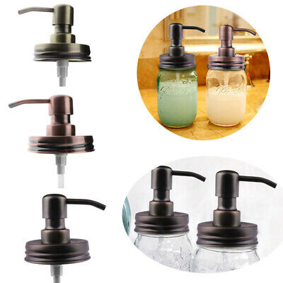 Anti-Rust Metal for Mason Jar Soap Lotion Dispenser Lid Pump Tube Canning Bronze