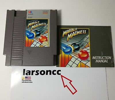 Marble Madness (Nintendo Entertainment System, 1989) NES + Manual