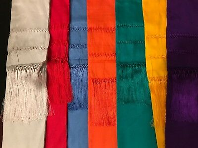 Mexican Shawls Variety of Colors Brand New 7 x 2.5 ft. Purple, Royal Blue..