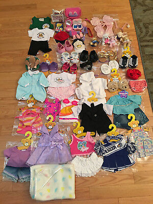 Lg Lot Build-A-Bear Clothing on Hangers Accessories