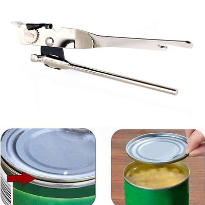 Can Tin & Jar Bottle Opener Manual Smooth Edge Stainless Steel Kitchen Tool