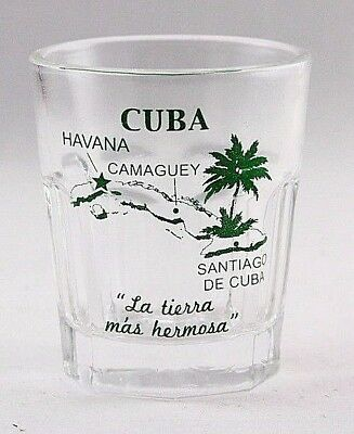 Cuba Vintage Map Outline Shot Glass Shotglass