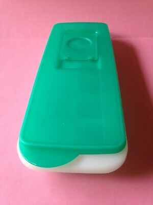 Tupperware Fresh N Pure Ice Cube Trays with Green Lid. Easy Fill Lid. VGC.