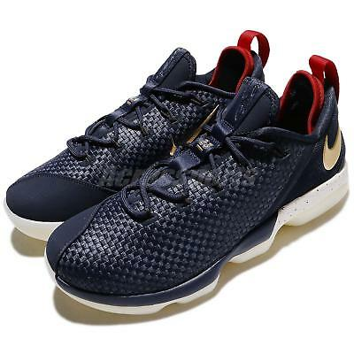 premium selection 167a7 6a683 Nike Lebron XIV Low EP 14 James USA 4th Of July Navy Gold Red Men 878635