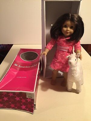 "American Girl 18"" gory 2009 CHRISSA DOLL Retired With Box With Llama"
