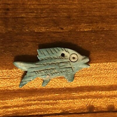 Egyptian Faience Ushabti Amulet Talisman Fish Mummy Pendant Artifact Sphinx Old