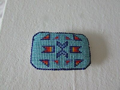 Plains Native American Beaded Buckle
