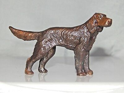 Vintage Bronze Finish Metal IRISH SETTER Dog