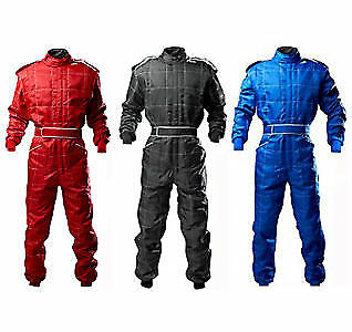 Go Kart Cordura Race Suit BLACK-RED-BLUE -Mega sale Introductory offer Red Camel