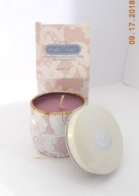 Avon Vintage Candle Pearls & Lace Candle New with Box & Insert