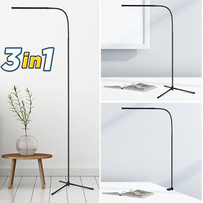 3-in-1 Ultra Slim LED Floor Lamp Dimmable Gooseneck Desk Reading Standing Light