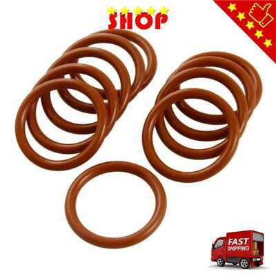 28mm x 3mm Silicone O Ring Oil Sealing Washers Grommets Red 10 Pcs
