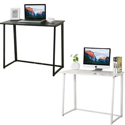 Folding Computer Desk Home Office Study PC Writing Table Furniture Black/White