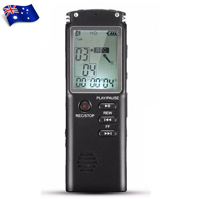 32G Rechargeable Digital Sound Voice Recorder USB LCD Recording MP3 Player AU