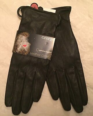 George Black Leather Gloves - Size Large - BNWT
