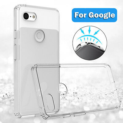 For Google Pixel 2 3 XL ShockProof Bumper Transparent Clear Silicone Case Cover
