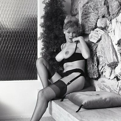 1960s Ron Vogel Negative, busty nude blonde pin-up girl Kim Kimberly, t216671