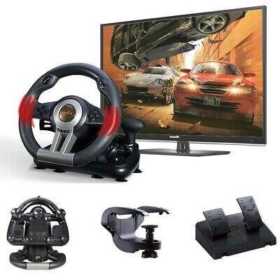 PXN V3II Racing Game Steering Wheel With Brake Pedal For PC PS3 PS4 Xbox One AU