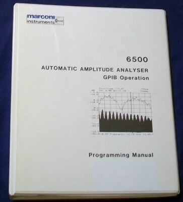 MARCONI 6500 automatic amplitude analyzer GPIB operation programming manual