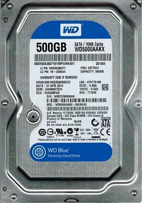 "500GB Western Digital WD 3.5"" SATA HDD Hard Drive 7200RPM 6Gb/s New WD5000AAKX"