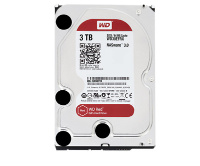 "3TB Western Digital WD Internal Hard Drive 3.5"" SATA III HDD 64MB Cache WD30EFRX"