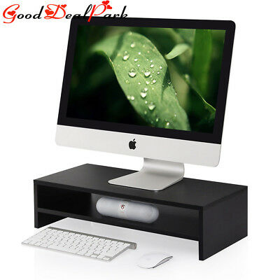 Desktop Monitor Stand Raiser LED LCD TV Laptop Rack Computer Screen Riser Shelf
