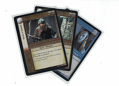 Lord of the Rings CCG Siege of Gondor FOIL: 3x Rare Cards   freie Auswahl    Lot