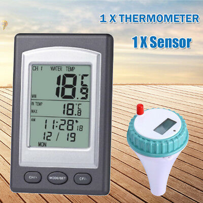 Wireless Remote Digital Floating Pool Thermometer Waterproof Hot Tub Pond Spa