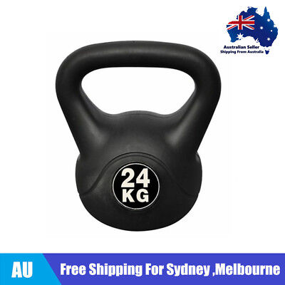 Kettlebell Kettle Bell Weight Plates 24kg Workout Quality Plastic Coated AU